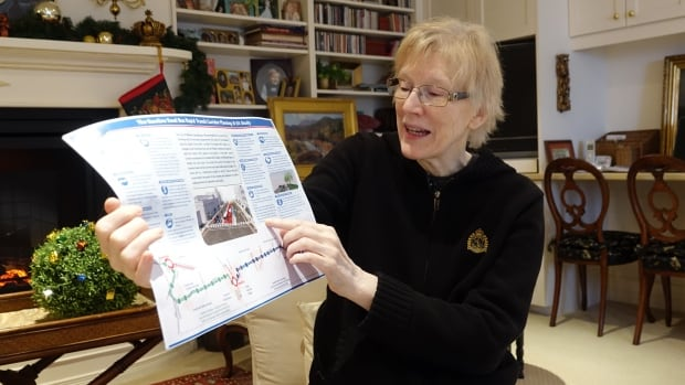 Marjorie Shaver-Jones is opposed to the City of Ottawa's plan to put bus stations on medians in the middle of Baseline Road as part of a plan for a new rapid transit corridor.