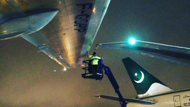 PIA plane clips wing of stationary aircraft at Toronto Pearson airport