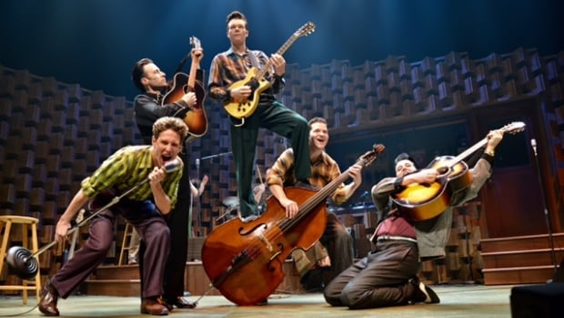 The cast of the Royal Manitoba Theatre Centre's production of Million Dollar Quartet, a musical based on a famous 1956 jam session, delivers high-energy rock 'n' roll fun.