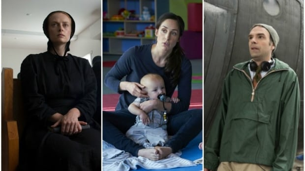 From a Mennonite crime thriller to a comedy about the misadventures of new moms, shows in CBC Television's new winter lineup tap real life for unexpected TV stories. Alex Paxton-Beesley, left, appears in a scene from the crime drama Pure, Catherine Reitman created and stars in the comedy Workin' Moms, and Matt Watts returns in Michael: Every Day.