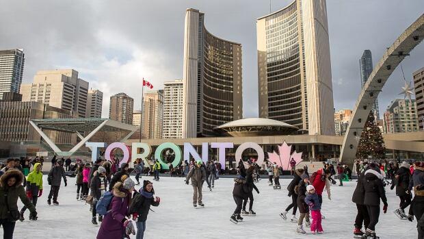 Toronto City Hall - Nathan Phillips Square - TORONTO sign