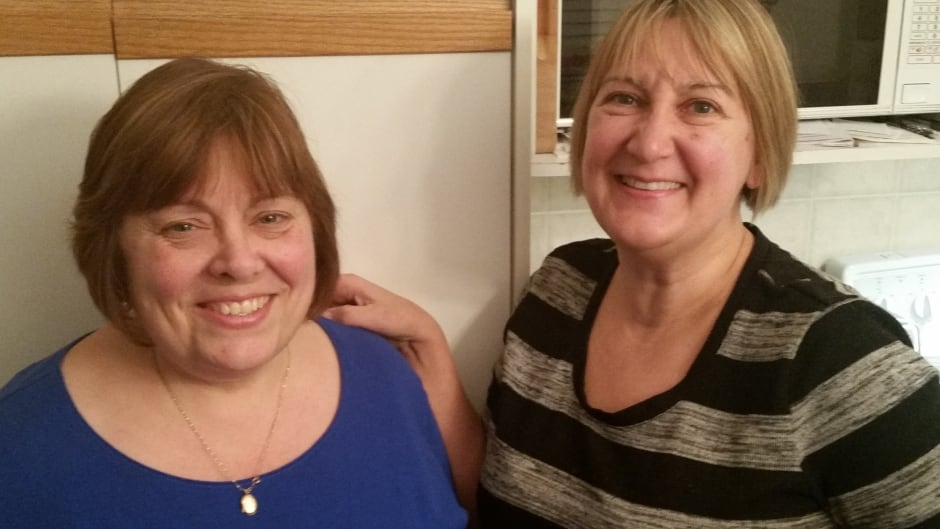 Sara Haddow (left) and Amy Cserni (right) have been reading entire books out loud together for 35 years.