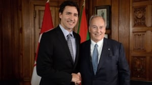 2014 visit to Aga Khan's island was also by private helicopter, Trudeau says