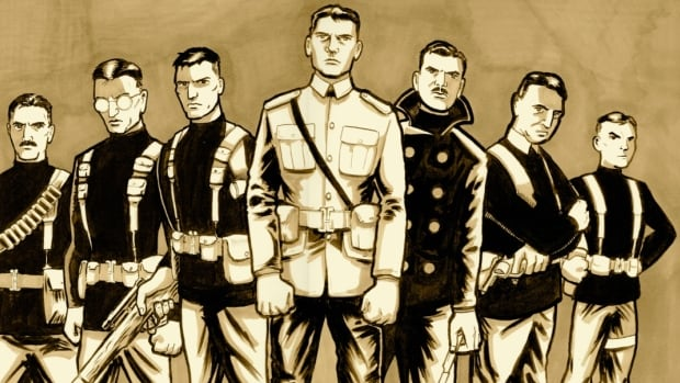 Writer Chris Sanagan and artist Jason Lapidus have created a comic celebrating Guelph, Ont.'s John McCrae, who wrote In Flanders Fields. The fictional comic features McCrae leading a secret mission with a real-life team of Canadians who served in WW I that includes Norman Bethune, Francis Pegahmagabow, Conn Smythe, A.Y. Jackson, Frederick Banting and Lester Pearson.