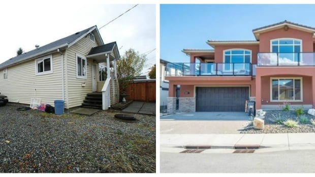 What does $550,000 get you? An 800 sq. ft. house in Surrey, B.C., left, or an 1,800 sq. ft. house in West Kelowna.