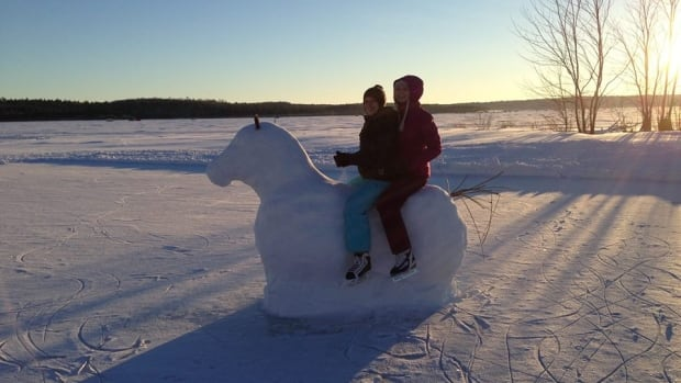 "Some ""Ice back riding"" on Vermilion Lake in Dowling, Ont."