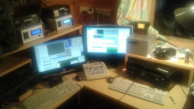 When you're listening to CBC Radio One's Vancouver broadcast from over 6,700 km away, this is a sampling of the equipment you'll need.