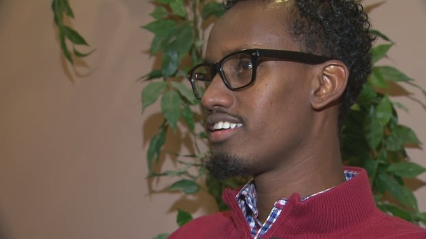 Yahya Samatar swam across the Red River from North Dakota into Manitoba in 2015.