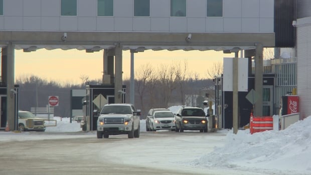Hundreds of people have been crossing the U.S.-border illegally near this border in Emerson, Man., seeking asylum in Canada.