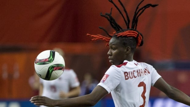 Kadeisha Buchanan, show above competiting for Canada in the 2015 Women's World Cup, has joined French powerhouse Olympique Lyonnais following a stellar collegiate career at the University of West Virginia.