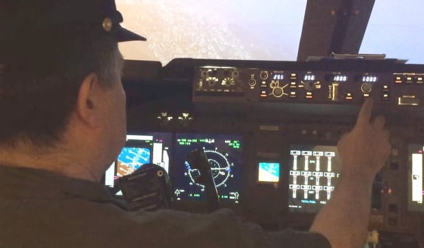 Marco Governali flight simulator Boeing 747 Calgary