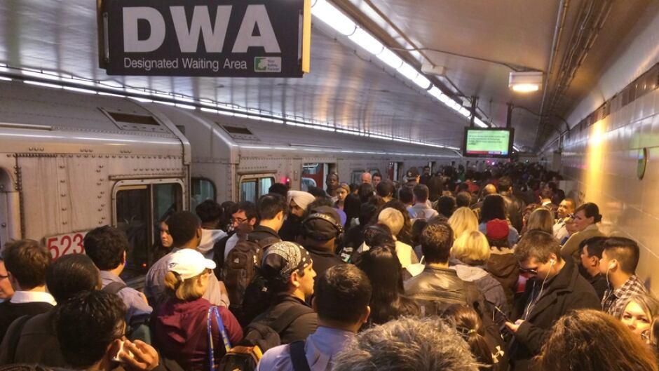Subway delay in Toronto on Thursday May 19, 2016.