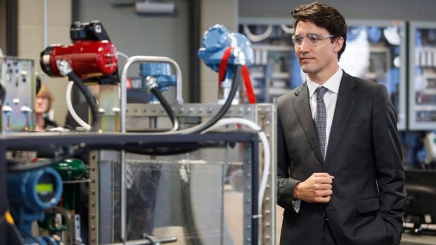 Prime Minister Justin Trudeau visits the MacPhail School of Energy at the Southern Alberta Institute of Technology Polytechnic in Calgary last month.