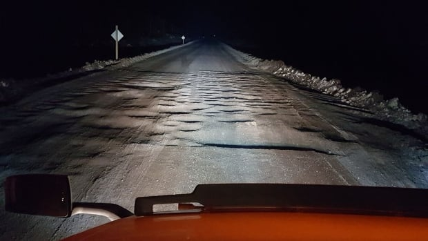 Twitter user Donnie O'Keefe posted this photo on someone's behalf, writing that the section of highway had been getting a lot of attention online.