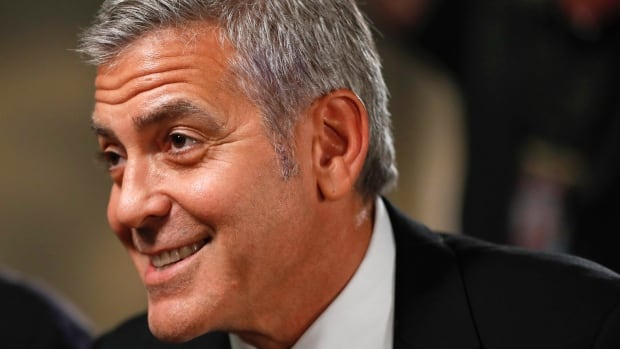 Actor George Clooney says the U.S. has been lucky with presidents such as George Washington and Franklin Delano Roosevelt, but he fears it's about to become 'unlucky' with Donald Trump.