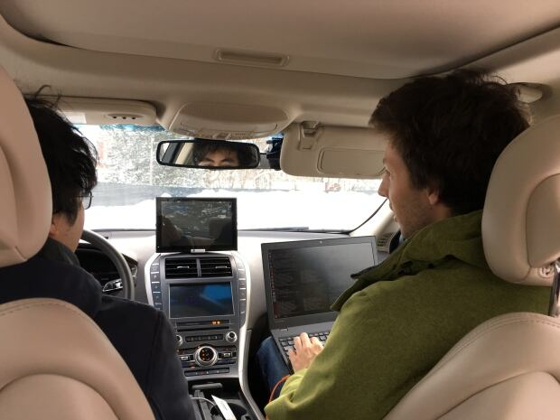 inside autonomous Renesas vehicle