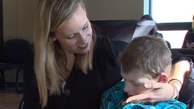 Jennifer Belyea and 16-year-old son, Cameron, who has Angelman syndrome, a rare genetic disorder.