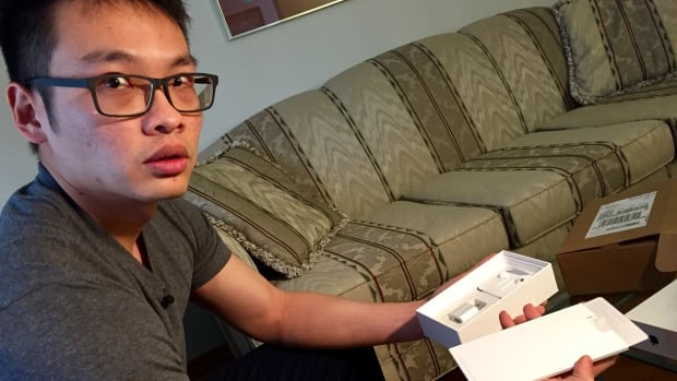 Geoff Lu said he received this empty iPhone box after making purchasing the new phone from Apple.