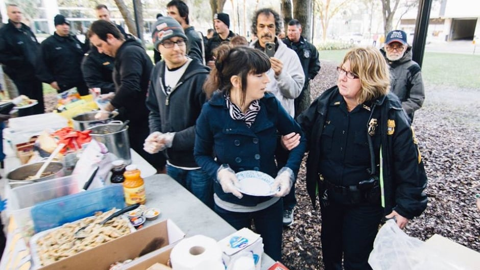 Volunteers with Tampa Food Not Bombs are defiant as police have decided to enforce an ordinance that prohibits them from feeding homeless people in a park without a permit.