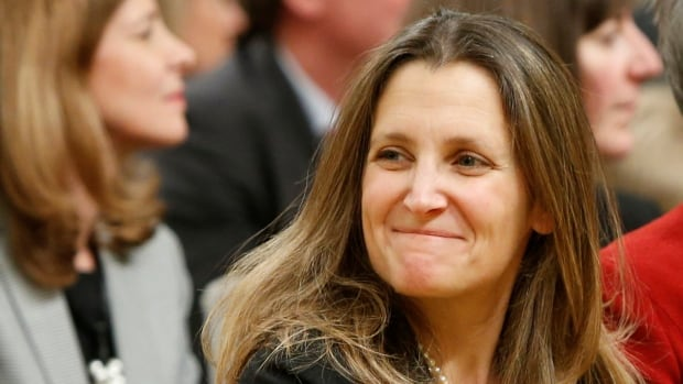 As Canada's top diplomat, Chrystia Freeland will be managing Canada's relations with the United States and Russia.
