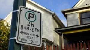 Residential street parking