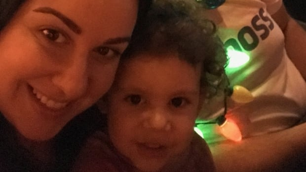 Rachel Laderman and her son Lev, as well as husband Andrew Laderman, not pictured, were stuck in Florida following the mass shooting at the Fort Lauderdale, Fla., airport on Friday because they couldn't get an Air Canada flight out. They finally took an American Airlines flight home Monday night after buying their own tickets.