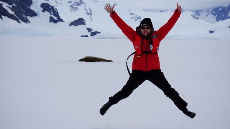 wynet smith jumping antarctica