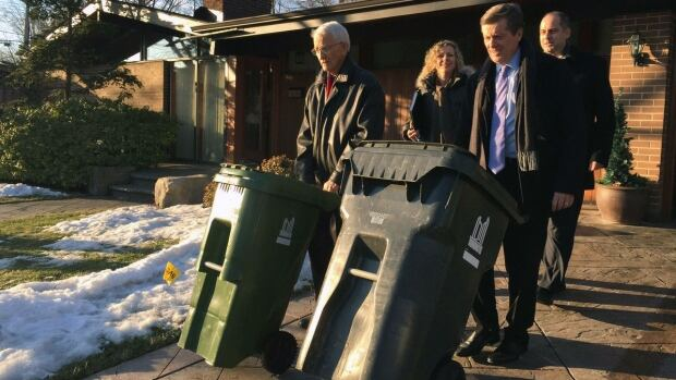 Toronto Mayor John Tory announced Wednesday in Etobicoke that he wants to study private garbage collection in Scarborough.