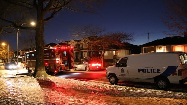Police discovered the bodies of two men in a home on Argyle Street in South Vancouver Tuesday evening.