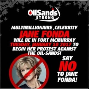 Oilsands strong Fonda campaign