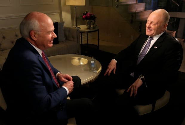 Peter Mansbridge and U.S Ambassador to Canada Bruce Heyman