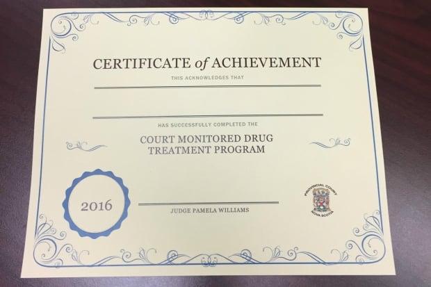 Drug court certificate Nova Scotia