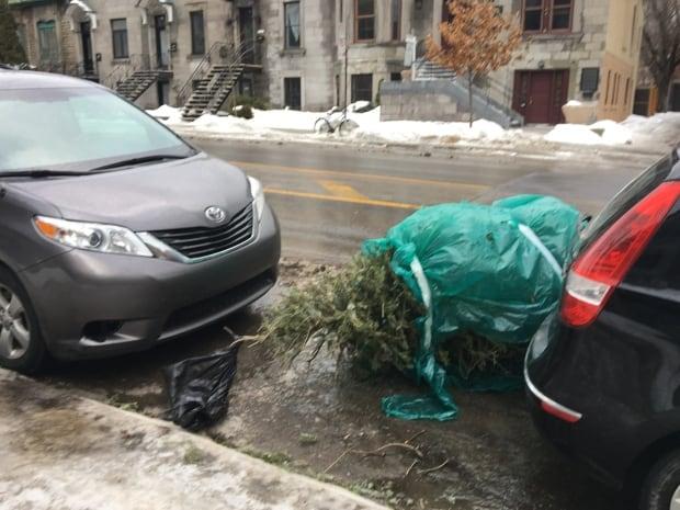 Christmas tree on St Hubert street
