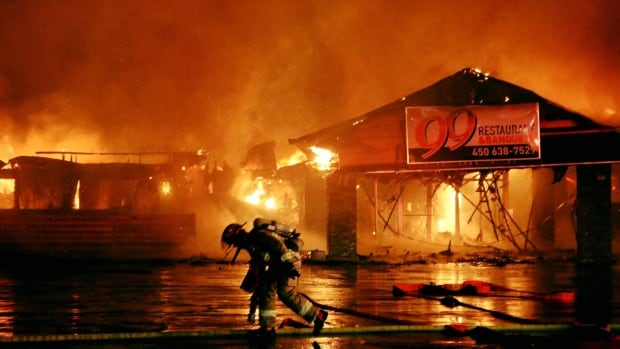 A number of businesses were destroyed early Thursday when fire tore through a commercial building in Kahnawake.