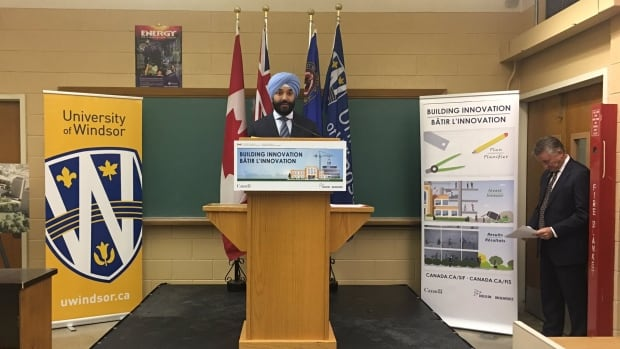 "Navdeep Bains, minister of innovation, science and economic development called it ""a down payment on the government's vision to position Canada as a global centre for innovation."""