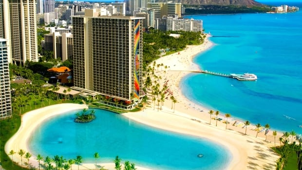 The website for the Hilton Hawaiian Village Waikiki Beach Resort boasts a lagoon, a beach, a 'paradise pool,' and the 'longest slide in Waikiki.'