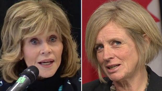 Actor Jane Fonda toured Alberta's oilsands operations, prompting reaction from Alberta Premier Rachel Notley.