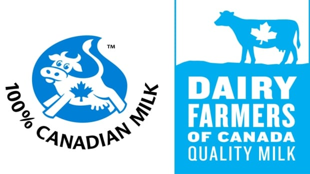 The Dairy Farmers of Canada's former symbol for Canadian-only milk products (left) has been around for decades. The new look (right) is meant to be less cute and more professional.