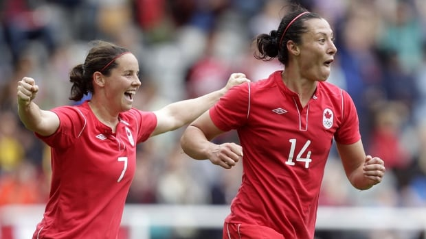 Melissa Tancredi, right, was beloved for both her fearless play and her ability to crack up teammates, while Rhian Wilkinson's playmaking ability from the full back position was ahead of its time.