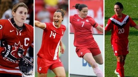 Female athletes retire
