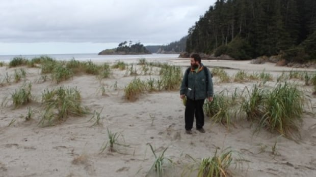 The Edge of the Knife co-director Gwaai Edenshaw scouting for filming locations on Haida Gwaii, B.C.