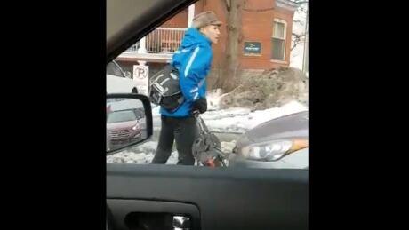 standoff between a car/cyclist