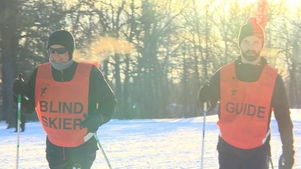 Blind skier Ross Eadie