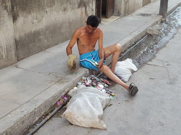 Cuban man on street