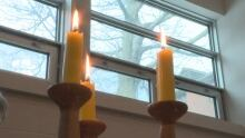Unitarian candles - UPEI chapel - 16/01/17