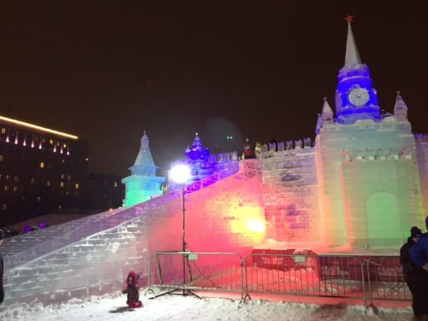 Ice Kremlin at Moscow's Victory Park