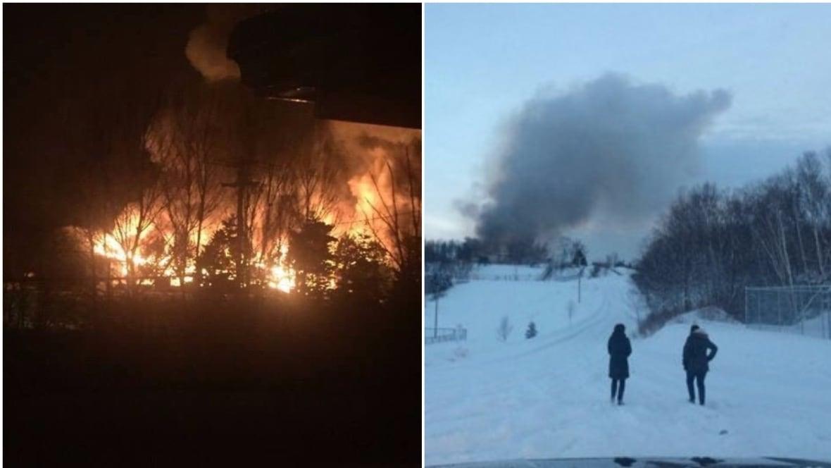 Person in custody as town hall, school burn in Newfoundland community