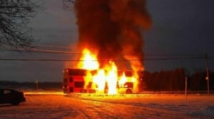 Bus catches fire in Ottawa