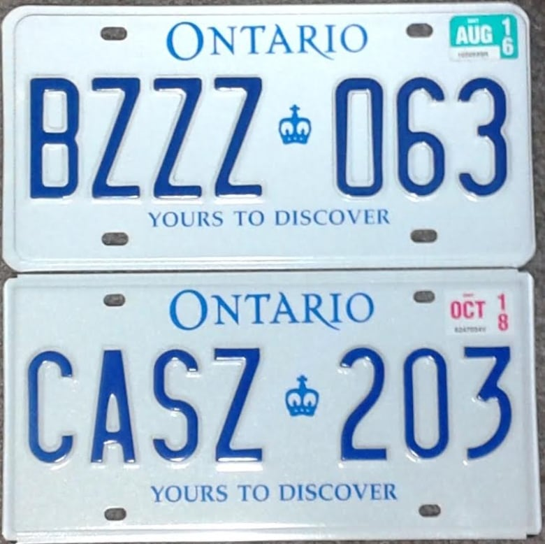 a0321cd7eadd A special order of additional Ontario licence plates has created some  confusion among drivers who are noticing the differences in fonts. (Jim  Becksted)