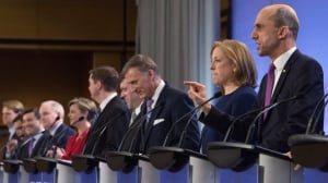 Gloves come off in French-language Conservative leadership debate